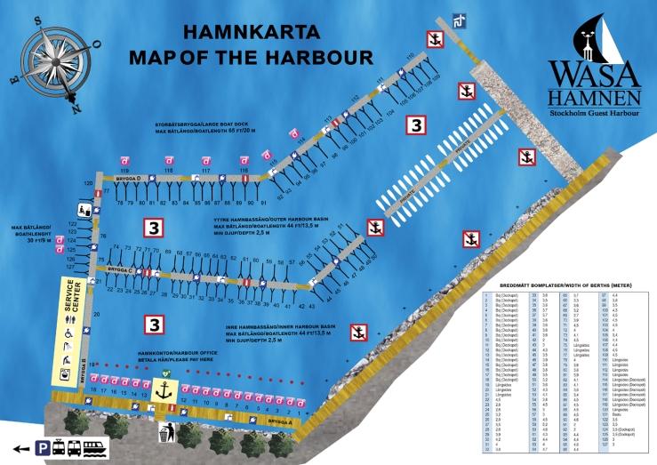 Hamnkarta Wasahamnen